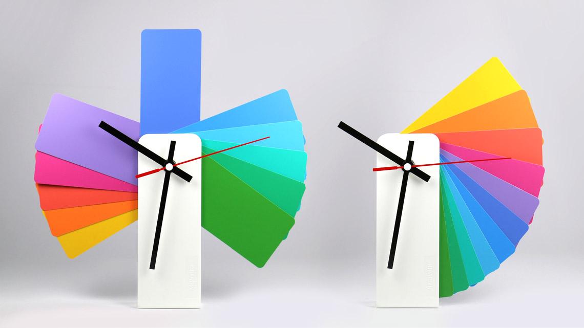 Transformer analog clock kibardin - Wanduhr modern weiay ...