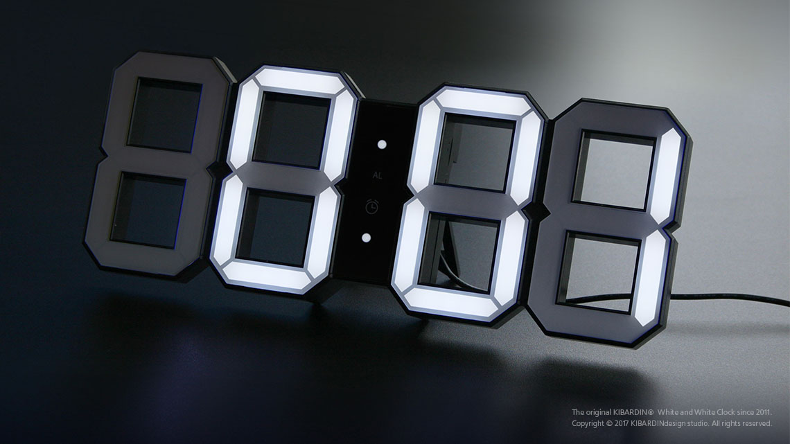 White and White Clock_Black 6