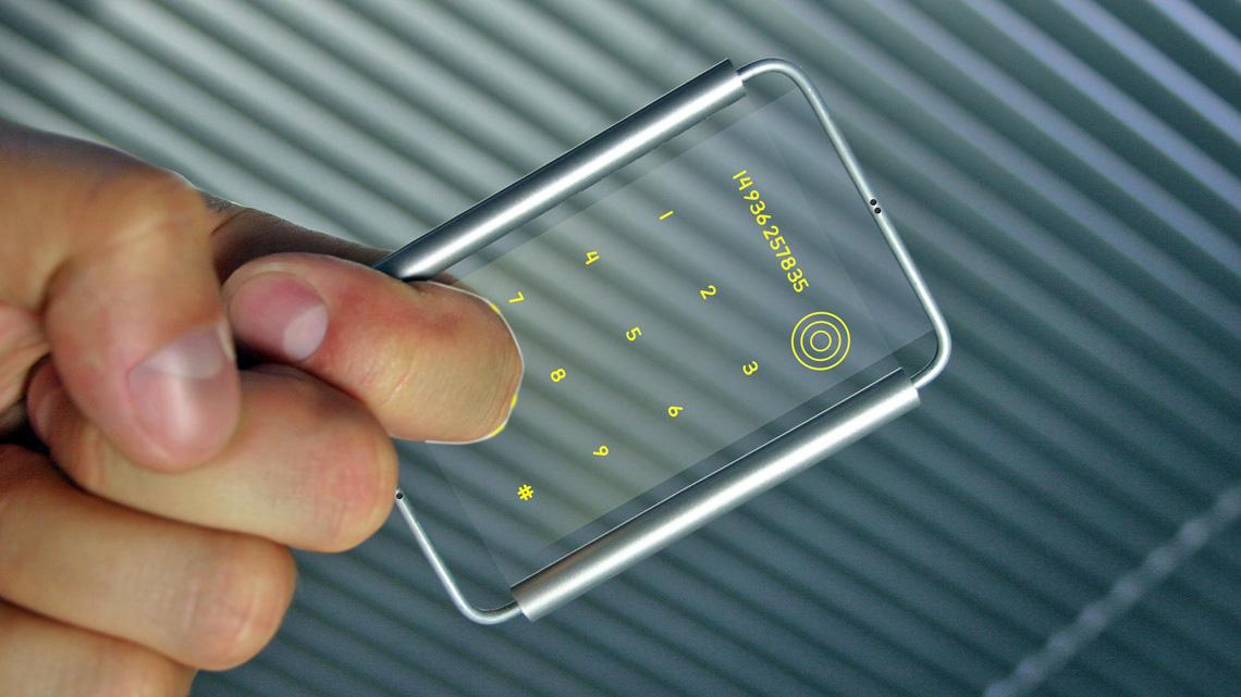 Holographic Frame Phone by Vadim Kibardin