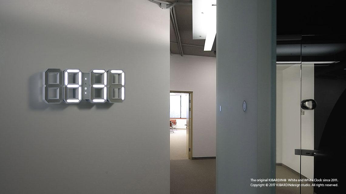 Award winning Original Kibardin 3D digital White and White LED Clock in  White Case aff9758b75