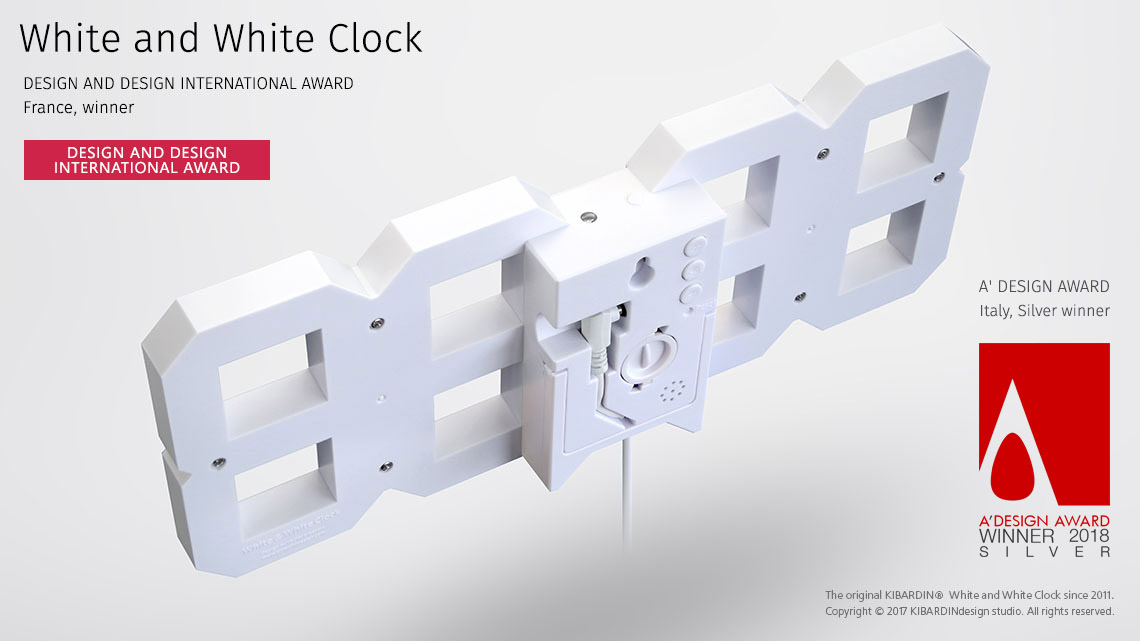 White and White Clock 11
