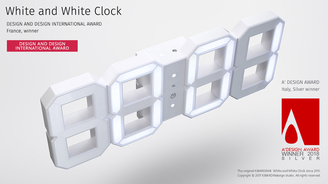 White and White Clock 1