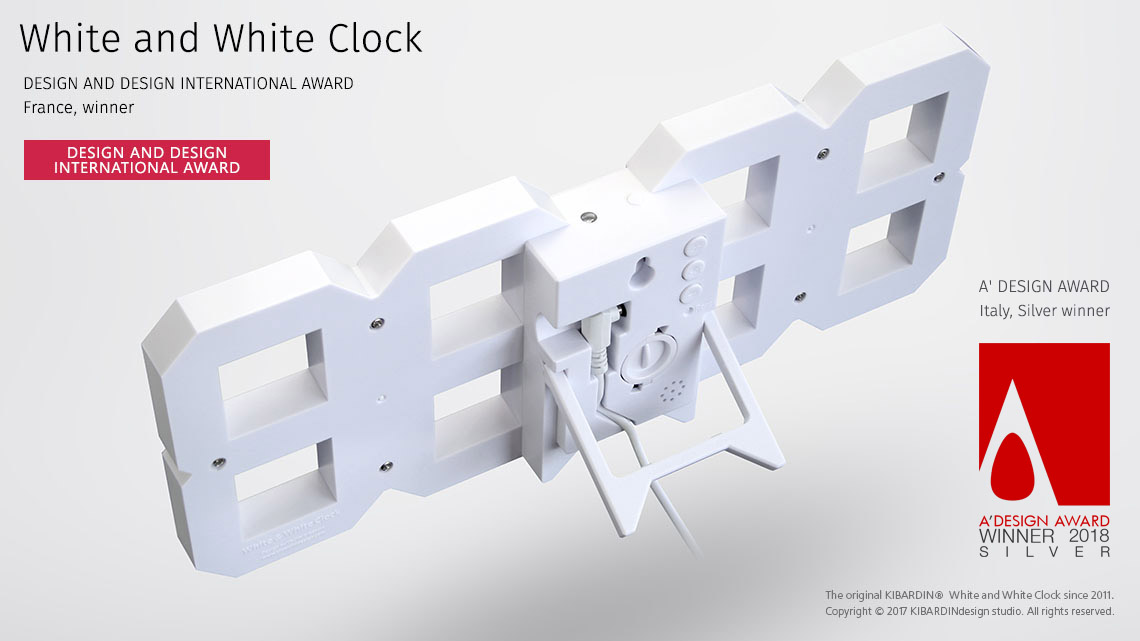 White and White Clock 10